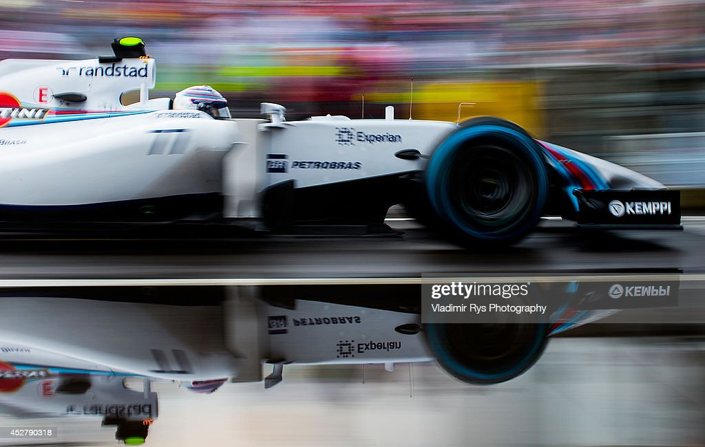 Valtteria Bottas of Finland and Williams drives during the Hungarian Formula One Grand Prix at Hungaroring on July 27, 2014 in Budapest, Hungary.