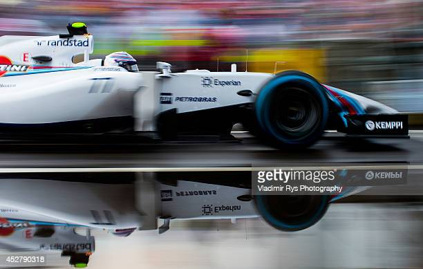 Valtteria Bottas of Finland and Williams drives during the Hungarian Formula One Grand Prix at Hungaroring on July 27 2014 in Budapest Hungary