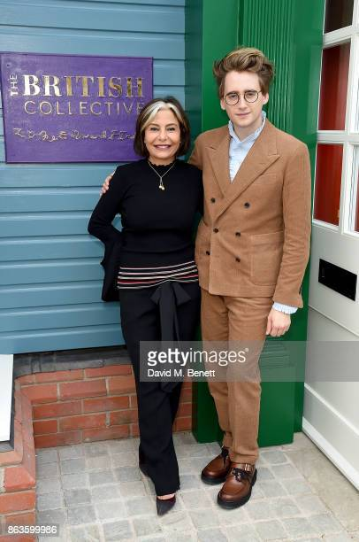 Value Retail Management Chair Desiree Bollier and Luke Edward Hall at the opening of the new Bicester Village and the launch of the British...