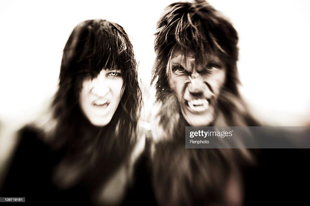 Vampire and Werewolf : Bildbanksbilder