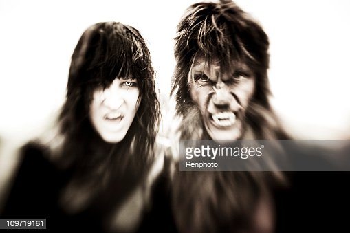 Vampiro y hombre lobo : Foto de stock