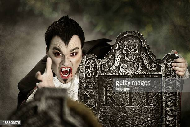 Vampire in a cemetery