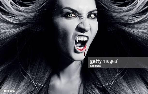 Vampire is screaming.