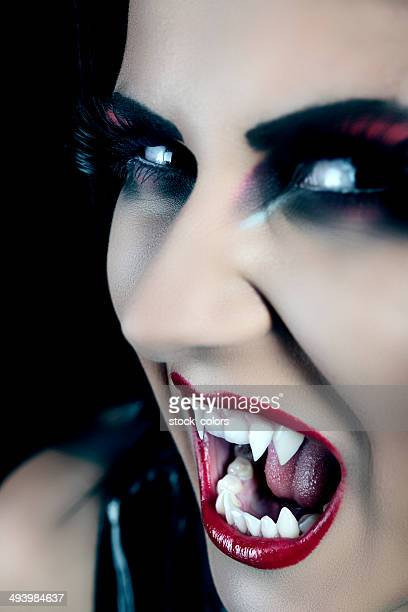 vampire making a face