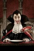 Vampire ordering meat