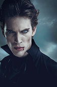 Portrait of a vampire. Halloween theme.