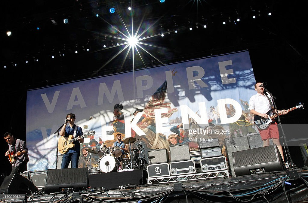 Vampire Weekend perform during Big Day Out at Claremont Showgrounds on January 28, 2013 in Perth, Australia.