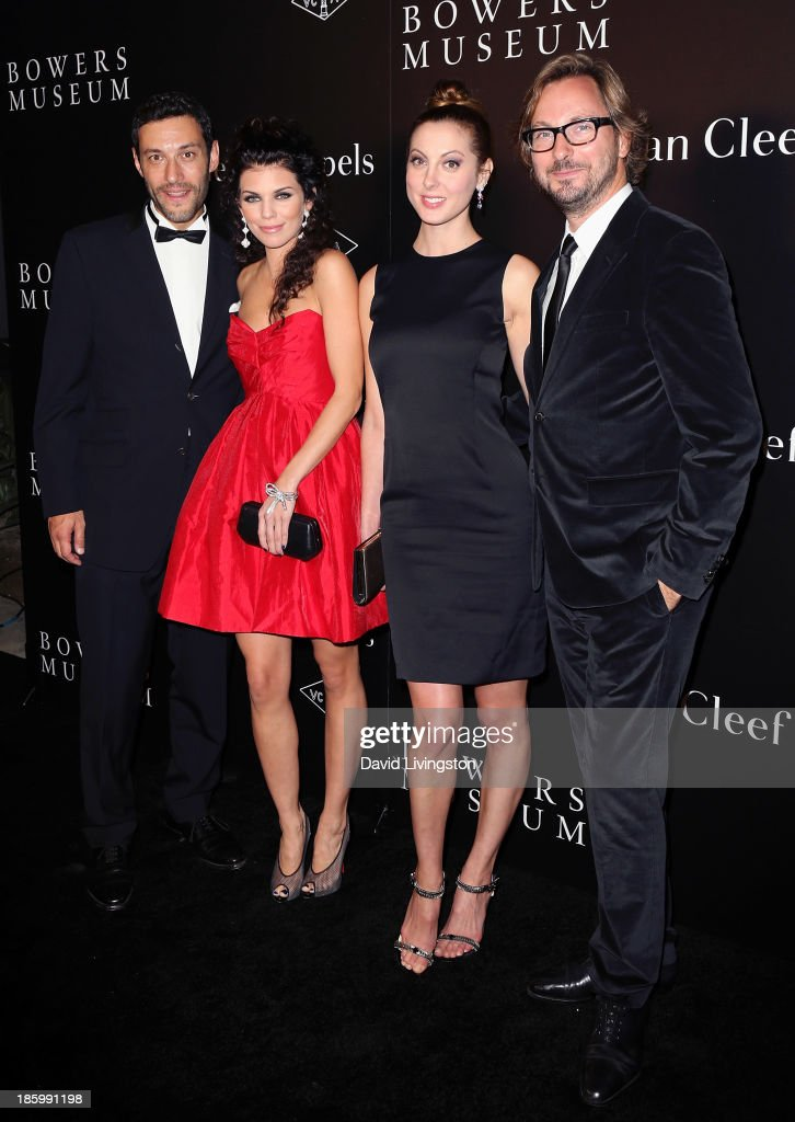 Van Cleef & Arpels CEO of the Americas Alain Bernard, actresses <a gi-track='captionPersonalityLinkClicked' href=/galleries/search?phrase=AnnaLynne+McCord&family=editorial&specificpeople=4070122 ng-click='$event.stopPropagation()'>AnnaLynne McCord</a> and <a gi-track='captionPersonalityLinkClicked' href=/galleries/search?phrase=Eva+Amurri&family=editorial&specificpeople=213733 ng-click='$event.stopPropagation()'>Eva Amurri</a> Martino and Nicolas Bos, Global CEO and Creative Director at Van Cleef & Arpels attend 'A Quest for Beauty: The Art of Van Cleef & Arpels' new exhibit opening night reception at The Bowers Museum on October 26, 2013 in Santa Ana, California.
