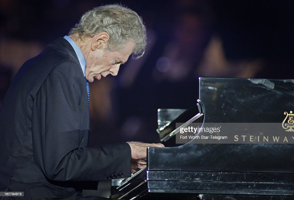 Van Cliburn plays the Star Spangled Banner at the start of a concert series promoting the Super Bowl in Arlington Texas September 10 2010 Cliburn the...