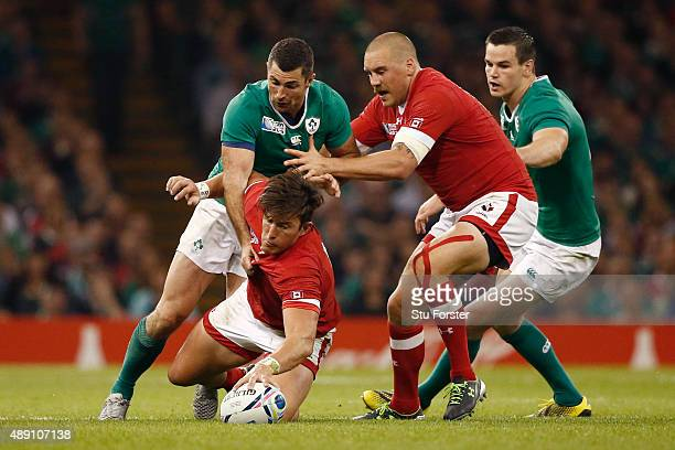 Van Der Merwe of Canada dives for the ball during the 2015 Rugby World Cup Pool D match between Ireland and Canada at the Millennium Stadium on...