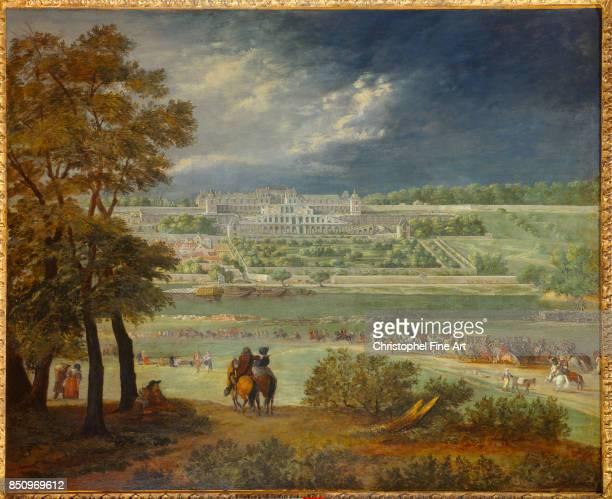 Van Der Meulen Adam Frans The Chateau Neuf of Saint Germain and the Gardens 1665 Paris Carnavalet Museum
