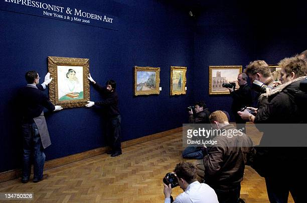 Van Gogh's L'Arlesienne during Vincent Van Gogh's 'L'Arlésienne Madame Ginoux' at Christie's London Photocall March 24 2006 at Christies's King...