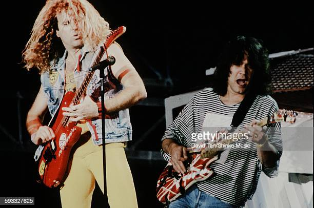 Van Halen guitar battle with Eddie Van Halen and Sammy Hager unknown 1985