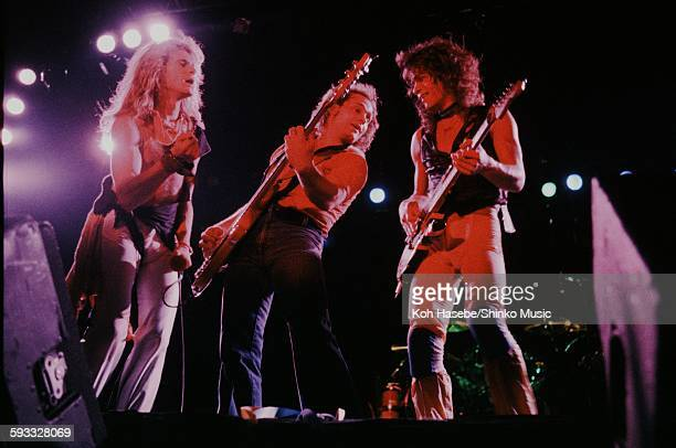Van Halen live at Nippon Budokan The three gathering at the stage front Tokyo September 1979