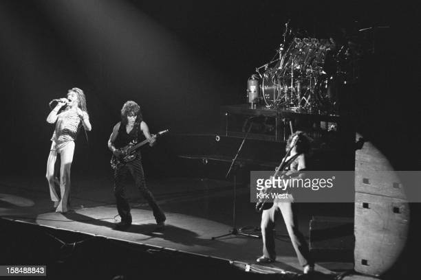 Van Halen peforms at the Aragon Ballroom Chicago Illinois April 26 1979