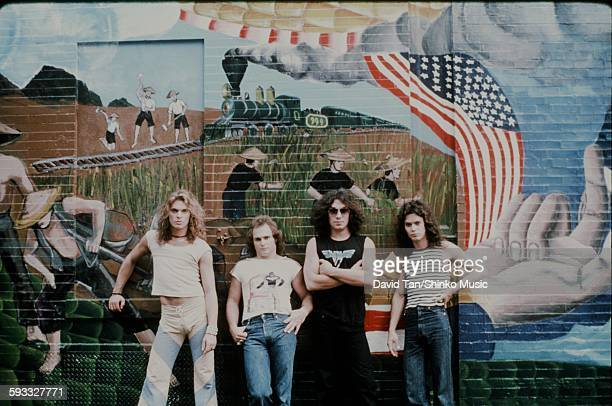 Van Halen with wall painting in the city unknown 1978
