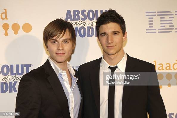 Van Hansis and Jake Silbermann attend 19th Annual GLAAD Media Awards at Marriott Marquis on March 17 2008 in New York City