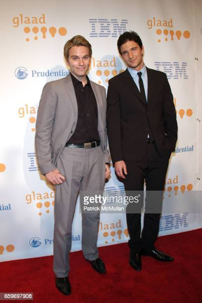 Van Hansis and Jake Silbermann attend 20th Annual GLAAD MEDIA AWARDS to Honor TYRA BANKS and SUZE ORMAN at Marriott Marquis on March 28 2009 in New...