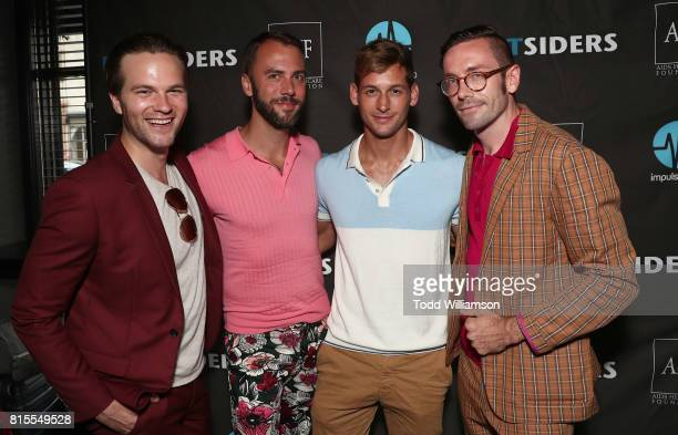 Van Hansis John Halbach Max Emerson and Kit Williamson attend the 'EastSiders' Premiere And After Party At Outfest on July 15 2017 in Los Angeles...