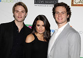 Van Hansis Lea Michele and Jonathan Groff pose at the 'True Colors Cabaret' presented by True Colors Tour Broadway Impact and True Colors Fund at...