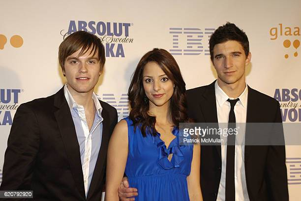 Van Hansis Tala Ashe and Jake Silbermann attend 19th Annual GLAAD Media Awards at Marriott Marquis on March 17 2008 in New York City