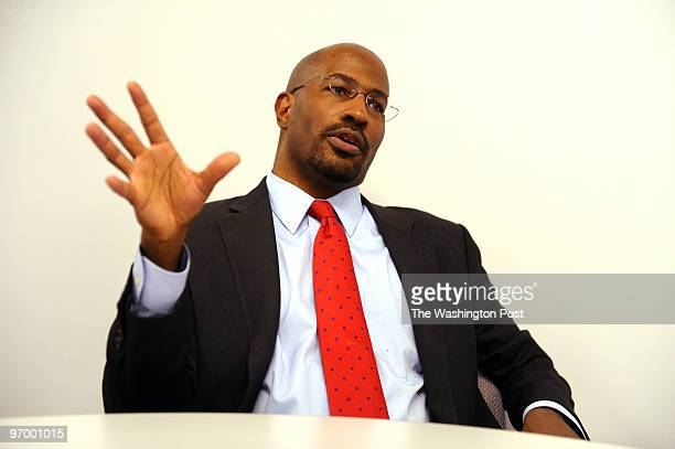 Van Jones former member of the Obama administration who resigned after statements he made earlier came to public notice He is photographed during an...
