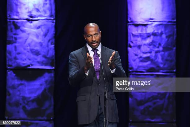 Van Jones onstage at 2017 Andrew Young International Leadership Awards and 85th Birthday Tribute at Philips Arena on June 3 2017 in Atlanta Georgia