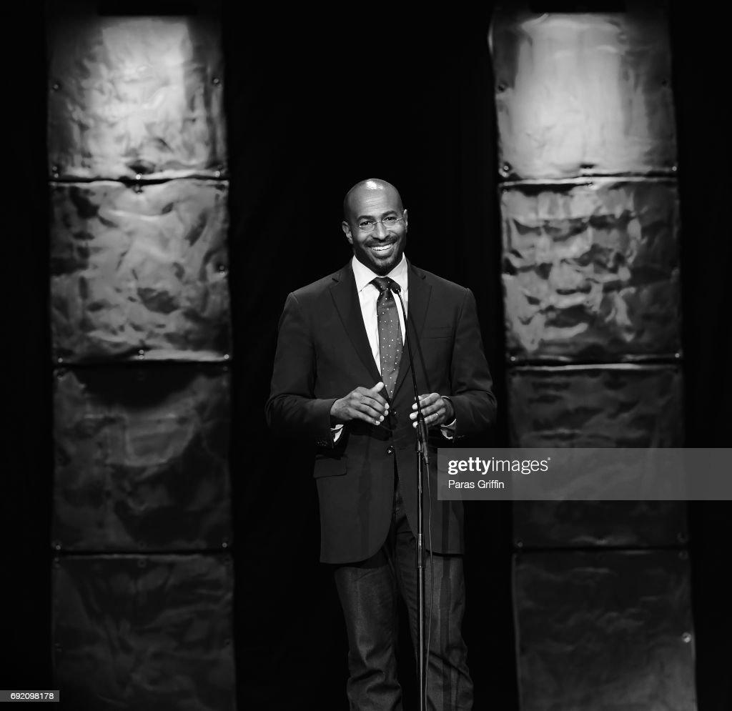 Van Jones onstage at 2017 Andrew Young International Leadership Awards and 85th Birthday Tribute at Philips Arena on June 3, 2017 in Atlanta, Georgia.