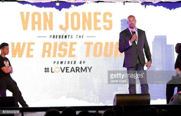 Van Jones speaks during his VAN JONES WE RISE TOUR powered by #LoveArmy at Hollywood Palladium on July 26 2017 in Los Angeles California