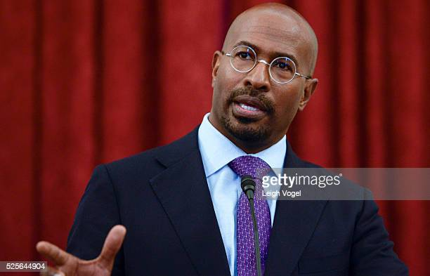 Van Jones speaks during #JusticReformNow Capitol Hill Advocacy Day at Russell Senate Office Building on April 28 2016 in Washington DC