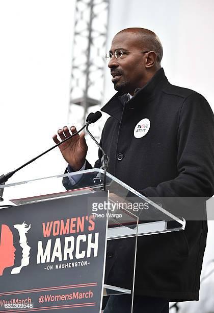 Van Jones speaks onstage during the Women's March on Washington on January 21 2017 in Washington DC