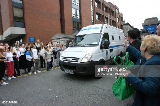 A van leaves the Central Criminal Court Dublin where Joe O'Reilly was sentenced to life imprisonment for killing his wife Rachel at their home in the...