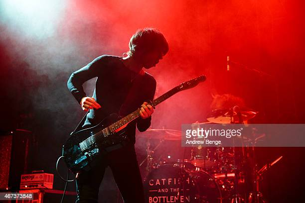 Van McCann and Bob Hall of Catfish and the Bottlemen perform on stage at O2 Academy Leeds on March 23 2015 in Leeds United Kingdom