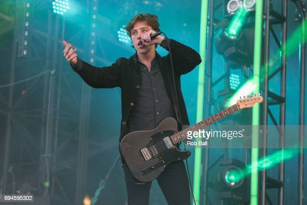 Van McCann from Catfish And The Bottlemen performs on day 3 of The Isle of Wight festival at Seaclose Park on June 10 2017 in Newport Isle of Wight