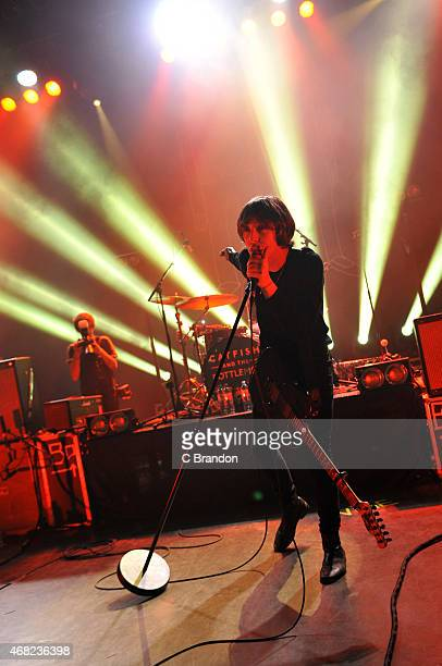 Van McCann of Catfish And The Bottlemen performs on stage at O2 Shepherd's Bush Empire on March 31 2015 in London United Kingdom