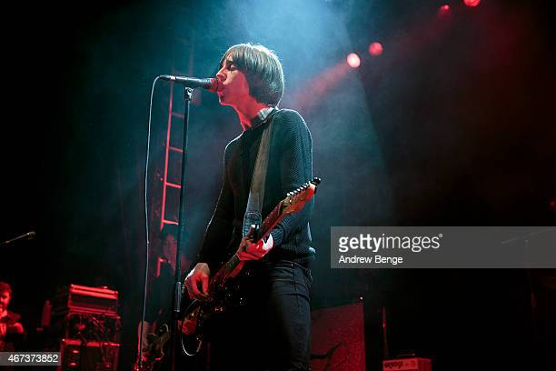 Van McCann of Catfish and the Bottlemen performs on stage at O2 Academy Leeds on March 23 2015 in Leeds United Kingdom