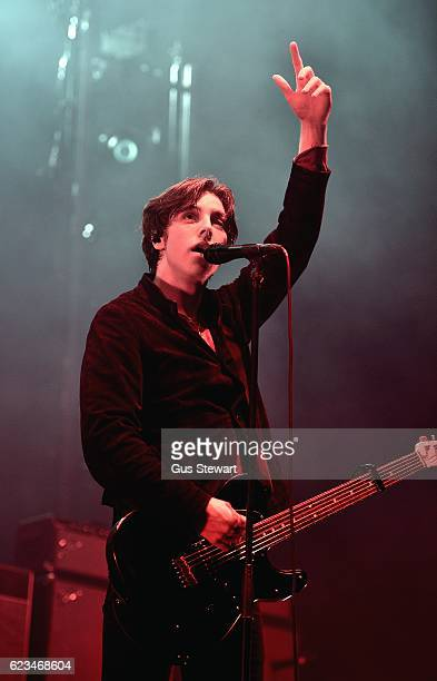 Van McCann of Catfish and the Bottlemen performs on stage at Wembley Arena on November 15 2016 in London England