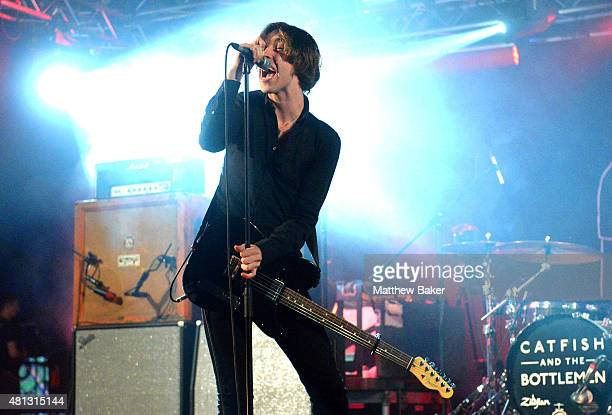 Van McCann of Catfish and The Bottlemen performs on the BBC Radio 6 Music stage on day 3 of Latitude Festival at Henham Park Estate on July 18 2015...