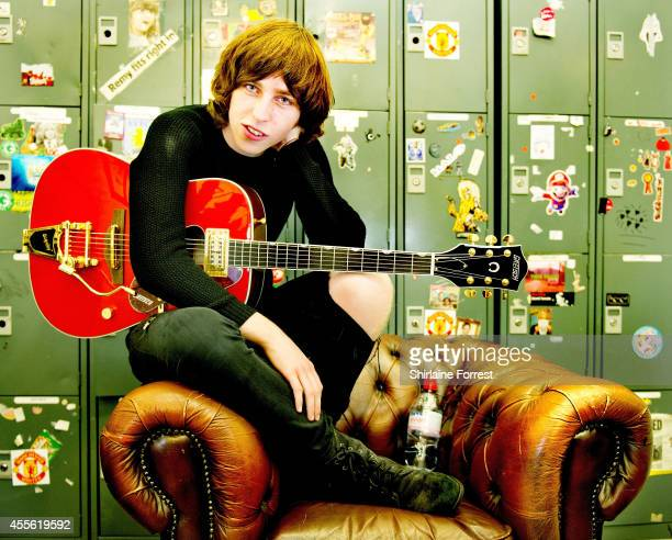 Van McCann of Catfish and the Bottlemen poses backstage after performing live and signing copies of their debut album 'The Balcony' at HMV Manchester...