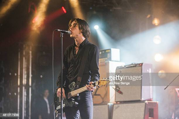 Van McCann of Catfish The Bottlemen performs on the 6 Music Stage at Latitude Festival on July 18 2015 in Southwold United Kingdom