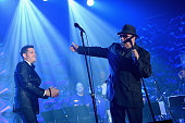 Van Morrison and Michael Buble performs Songwriters Hall Of Fame 46th Annual Induction And Awards at Marriott Marquis Hotel on June 18 2015 in New...