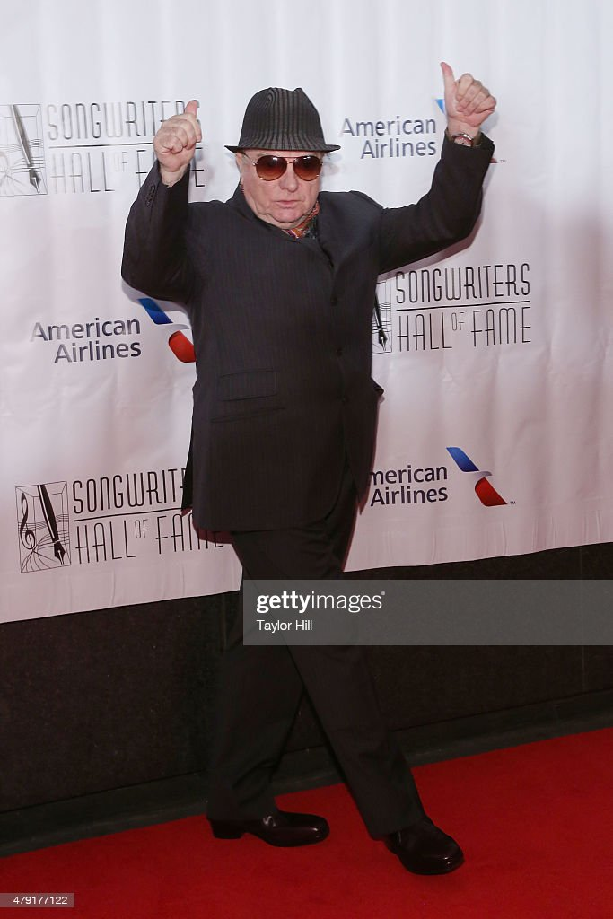 Van Morrison attends the Songwriters Hall Of Fame 46th Annual Induction And Awards at Marriott Marquis Hotel on June 18 2015 in New York City