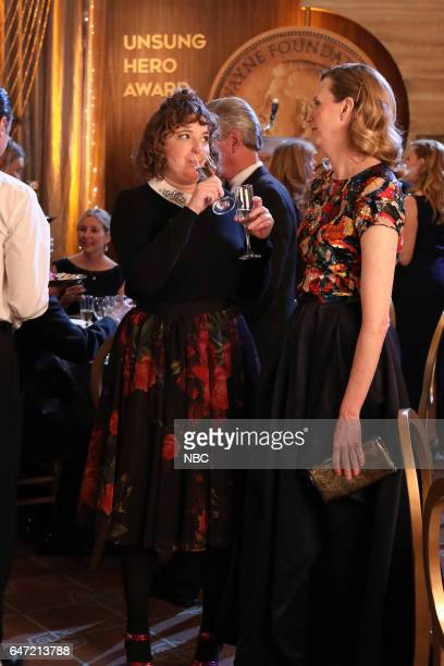 POWERLESS 'Van Of The Year' Episode 104 Pictured Jennie Pierson as Wendy Christina Kirk as Jackie