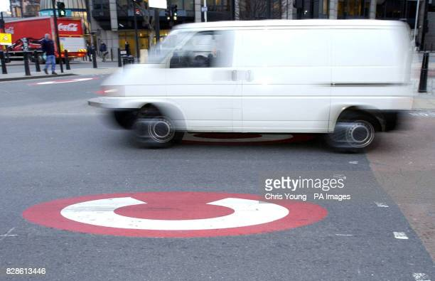 A van passes through the start of the Congestion Charge Zone Business claim that the charge will force them to put their prices up as drivers will be...
