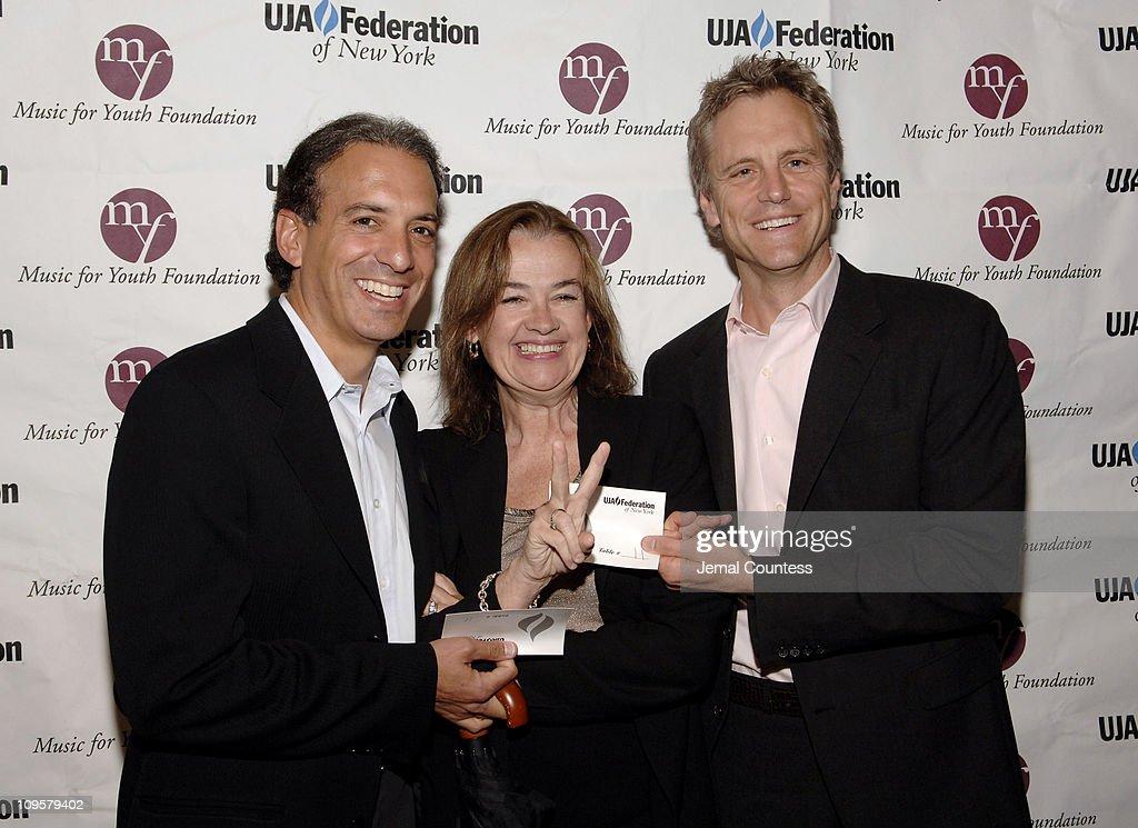 Van Toffler, MTV Music Group, Judy McGrath, CEO MTV Networks and John Sykes, New Channel Development MTV