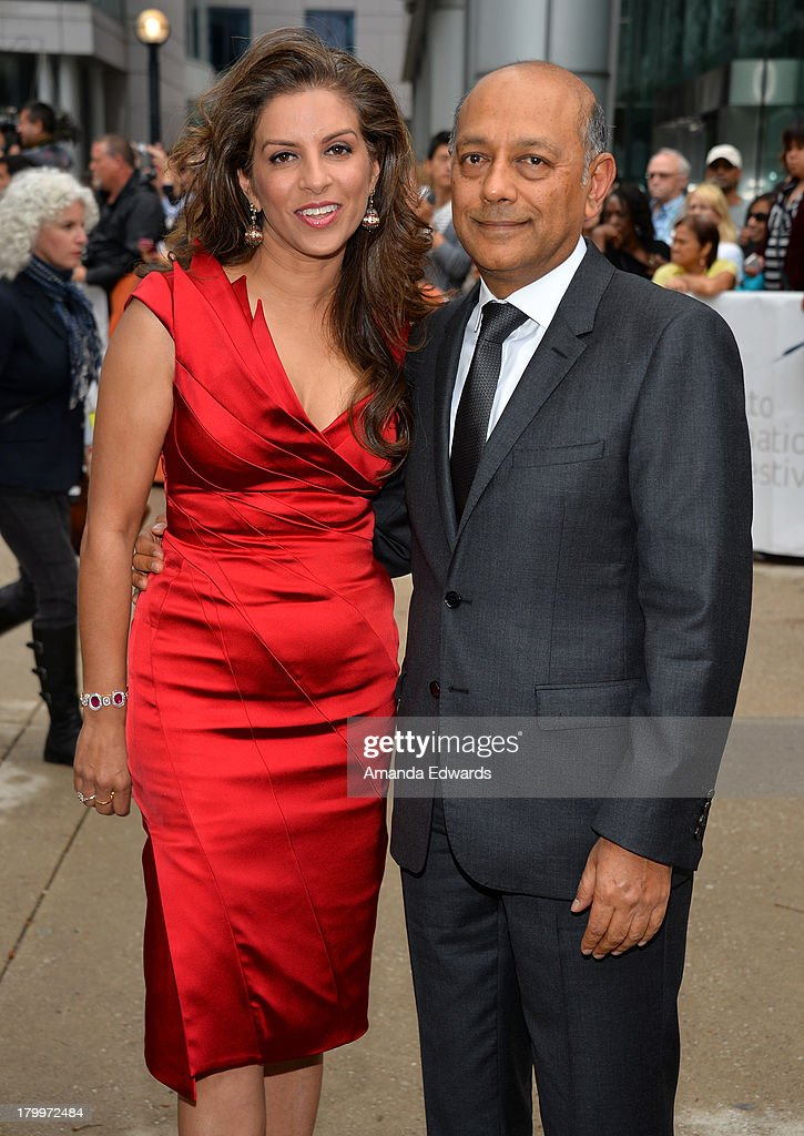 Vanashree Singh (L) and producer Anant Singh attend the 'Mandela: Long Walk To Freedom' premiere during the 2013 Toronto International Film Festival at Roy Thomson Hall on September 7, 2013 in Toronto, Canada.