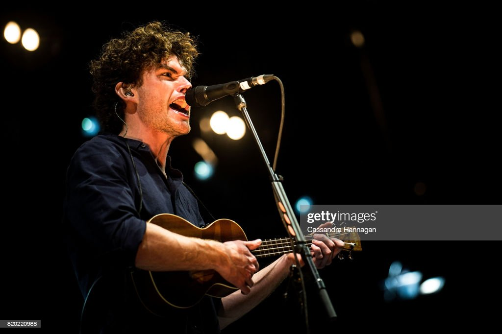 Vance Joy performs for fans during Splendour in the Grass 2017 on July 21, 2017 in Byron Bay, Australia.