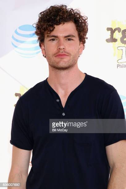 Vance Joy poses with Solar Eclipse glasses at the Radio 1045 Summer Block Party August 20 2017 in Philadelphia Pennsylvania