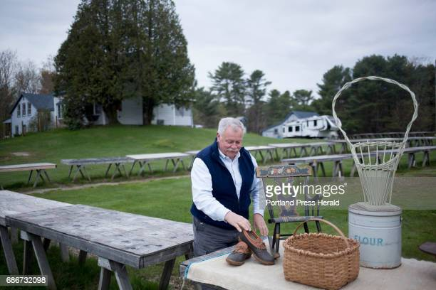 Vance Stuart of Norway sets up his table at Montsweag Flea Market Stuart has been selling at the market for about 15 years The market which was...