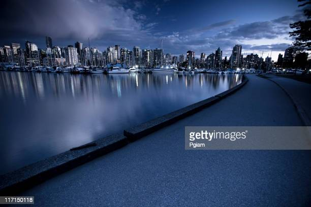 Vancouver BC cityscape path